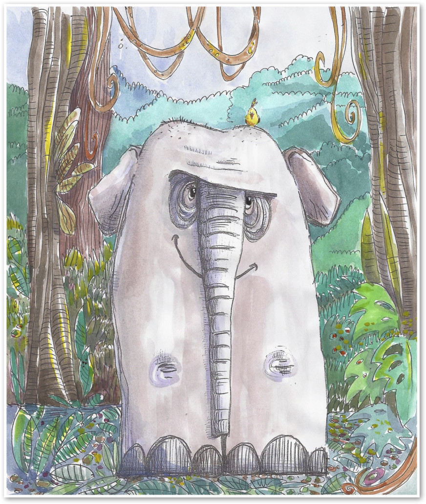 endangered animals - elephant - pourquoi tale